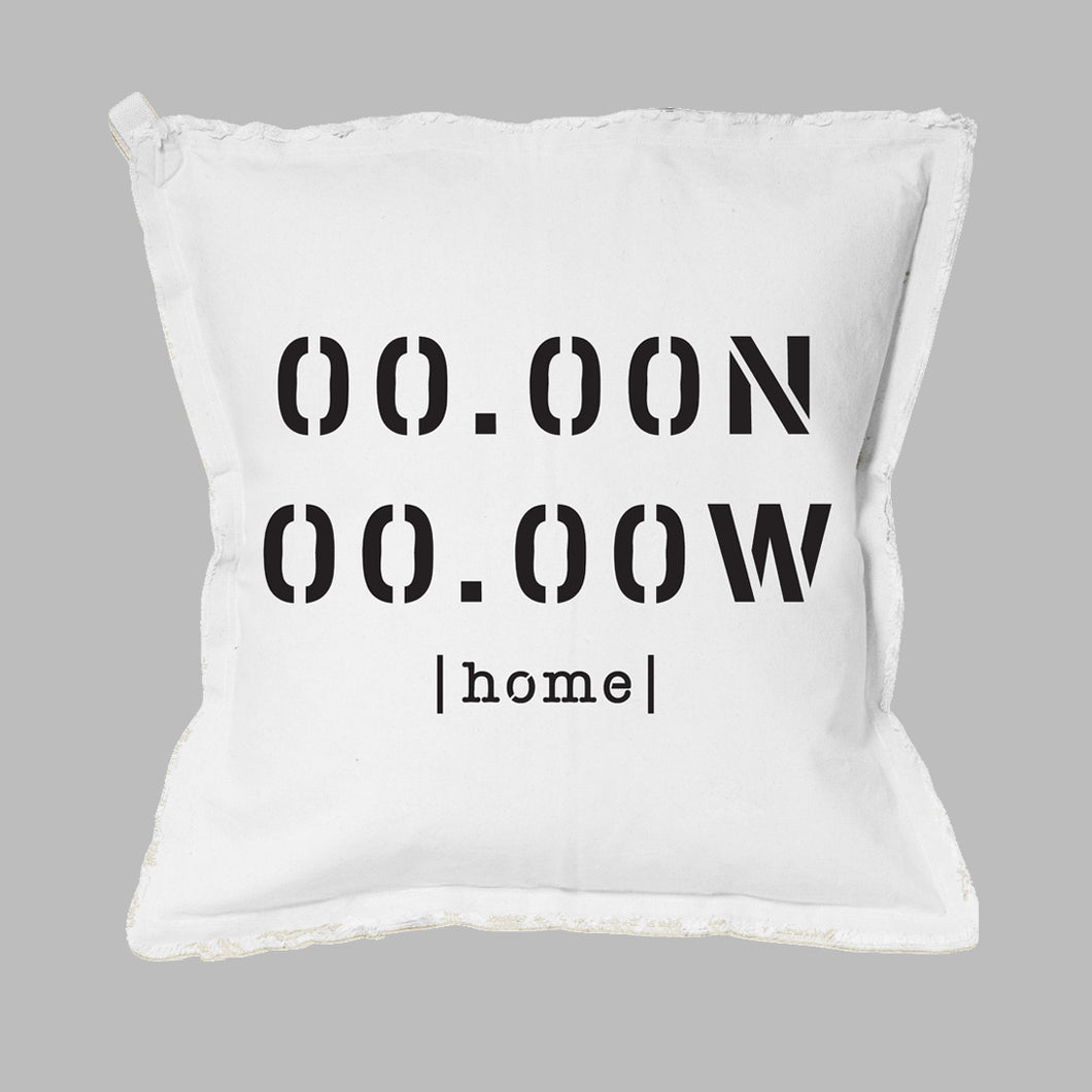 Your Home Coordinates Square Pillow