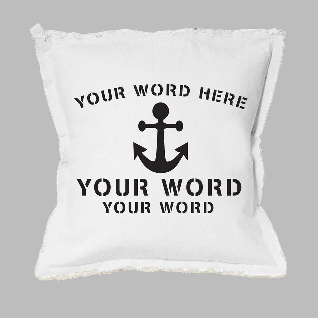 Your Icon + Arched Text Square Pillow
