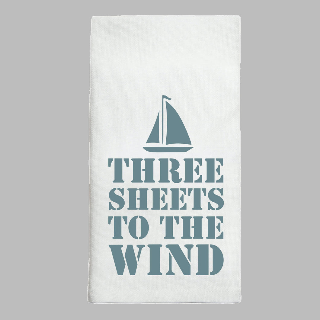 Three Sheets Tea Towel