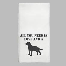 Load image into Gallery viewer, Love + A Dog Tea Towel