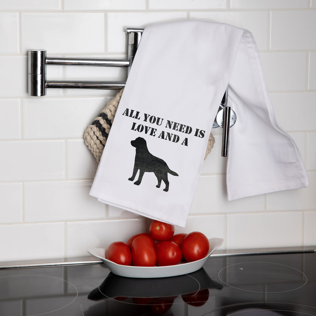 Love + A Dog Tea Towel