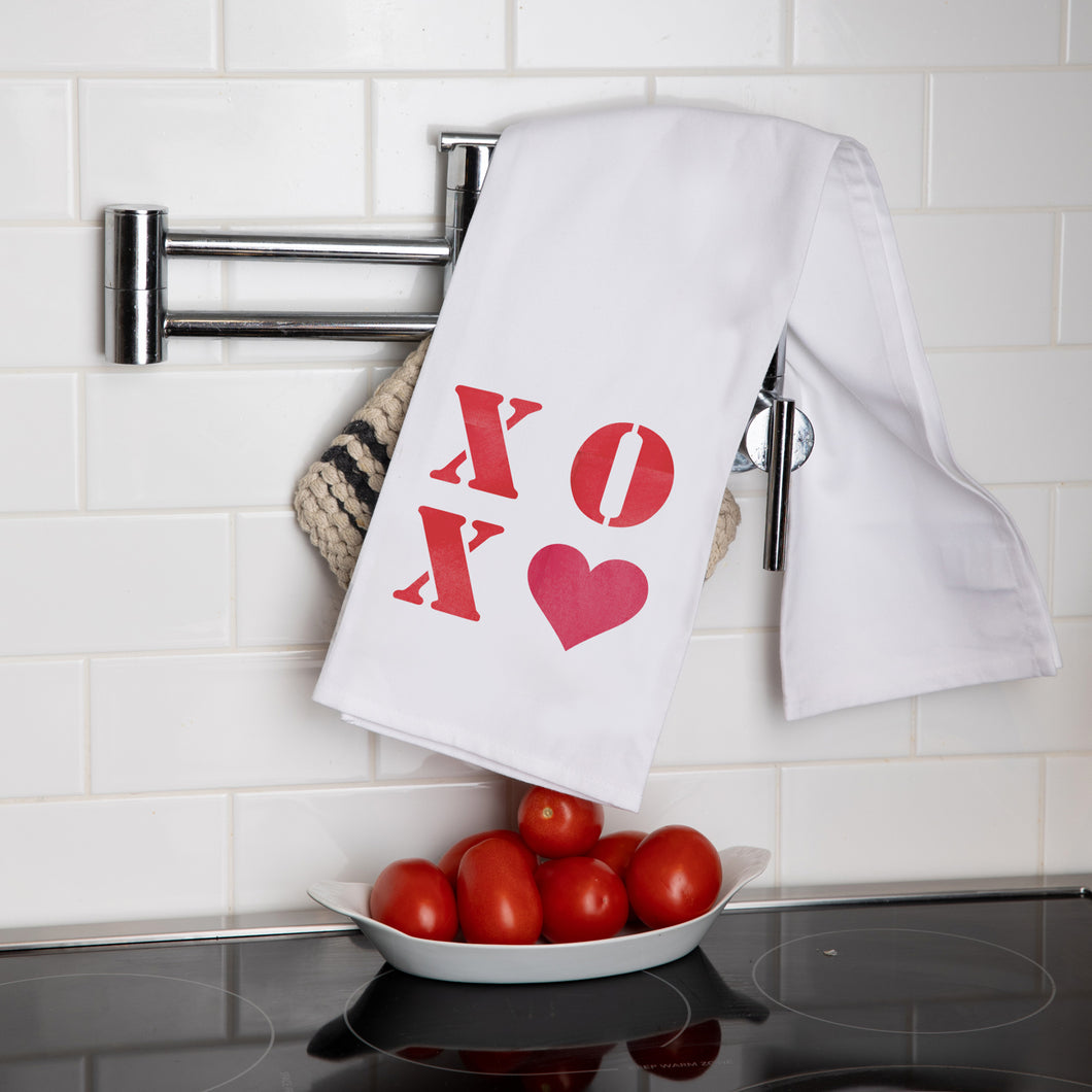 XOXO Heart Tea Towel