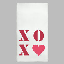 Load image into Gallery viewer, XOXO Heart Tea Towel