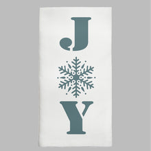 Load image into Gallery viewer, Snowflake Joy Tea Towel