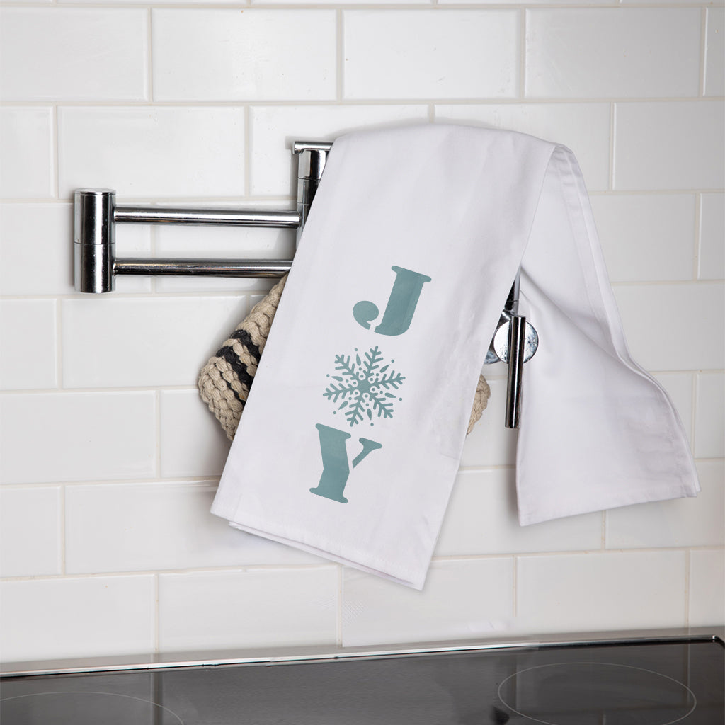 Snowflake Joy Tea Towel