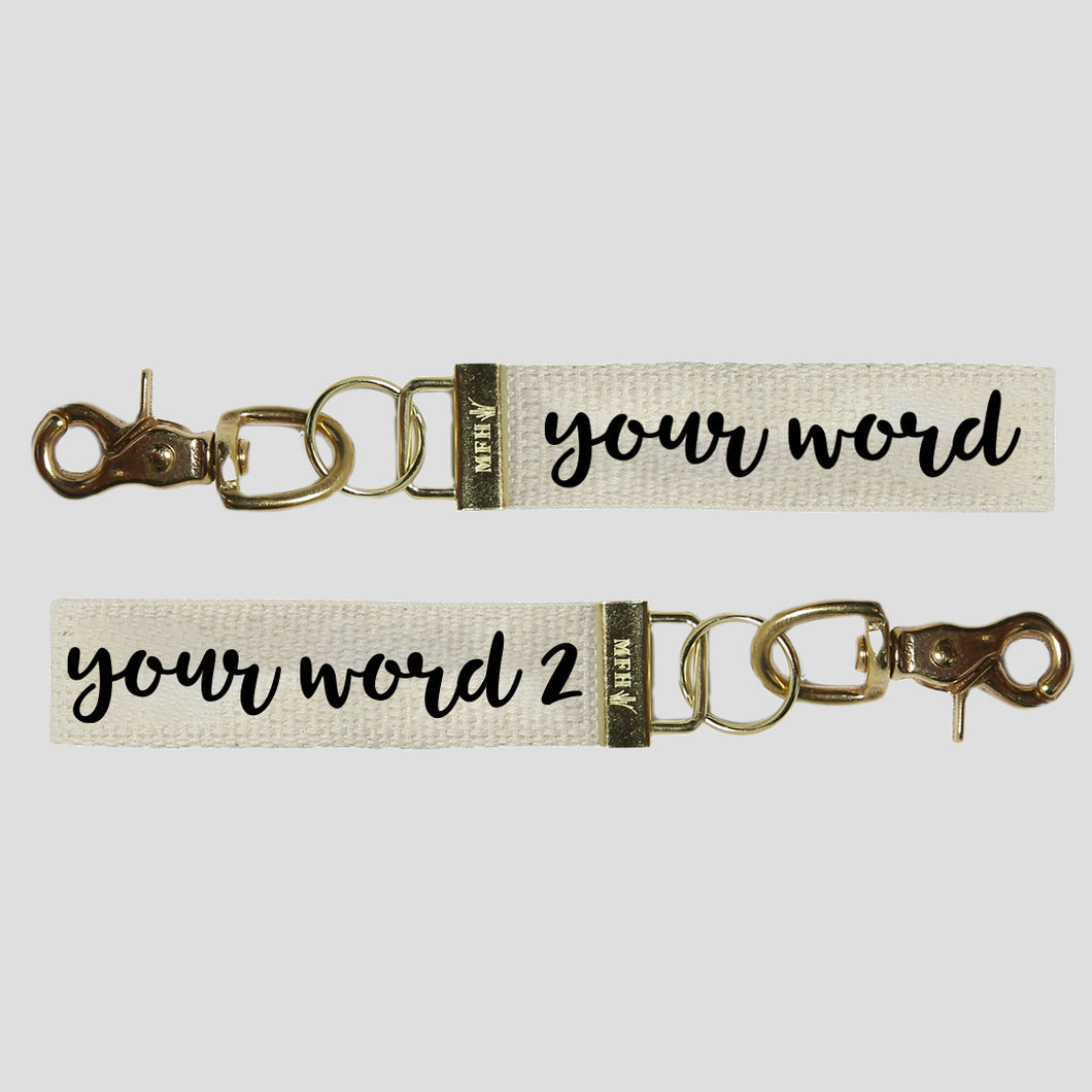 Your Word Two Sided Keychain