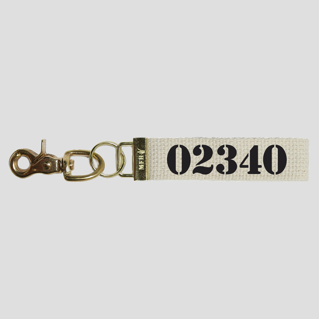 Your Zip Code Keychain