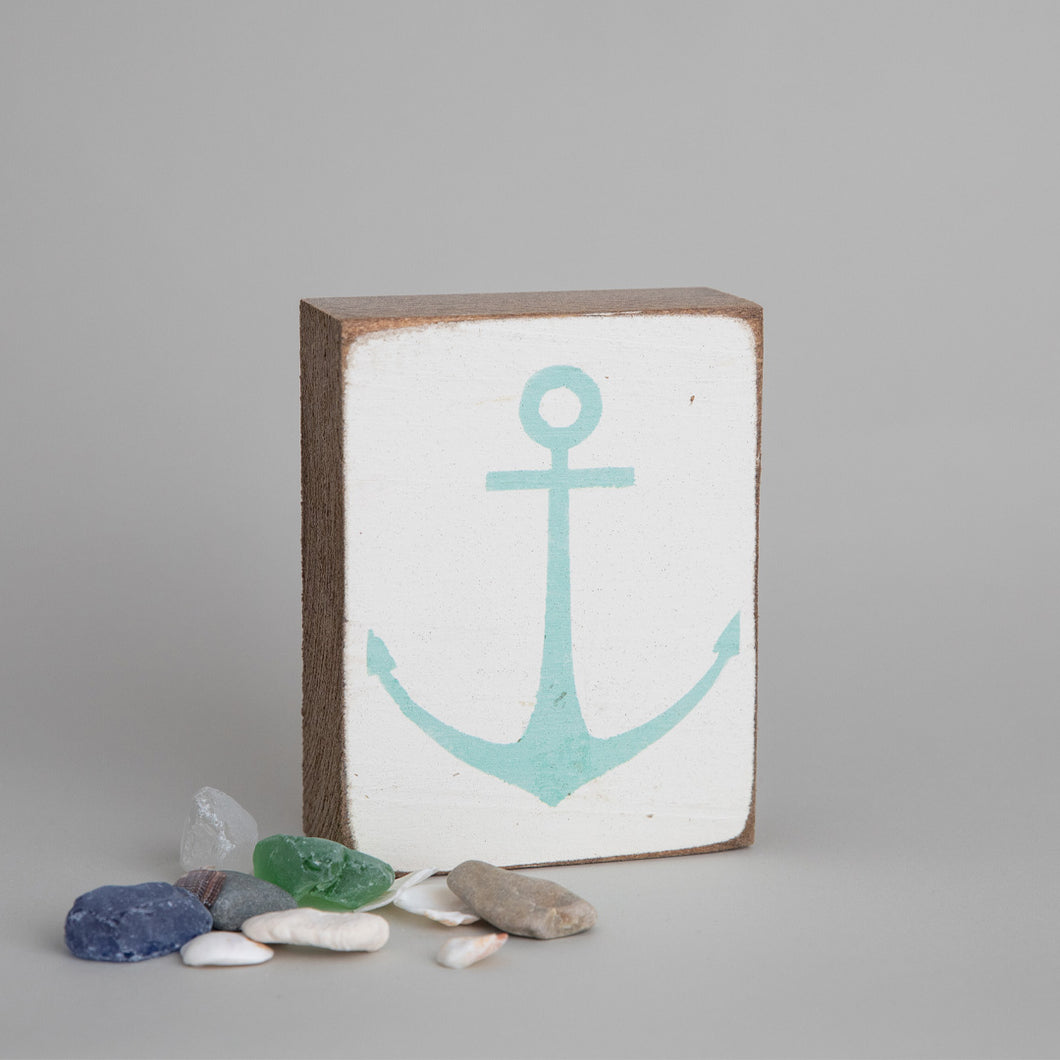 Modern Anchor Decorative Wooden Block