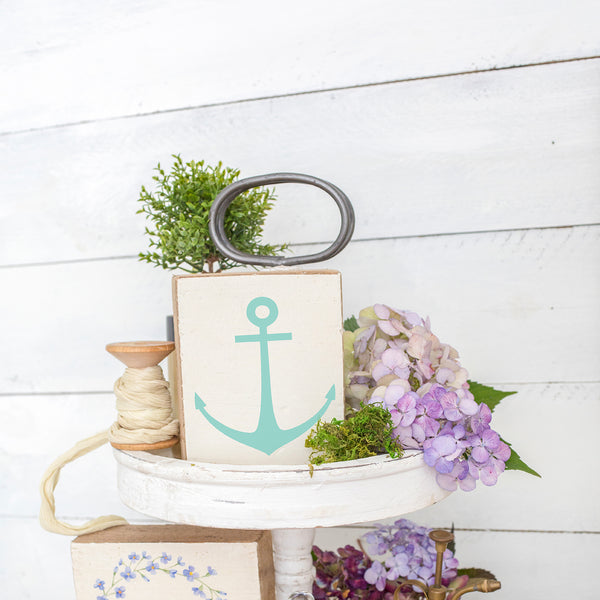Modern Anchor Rustic Block