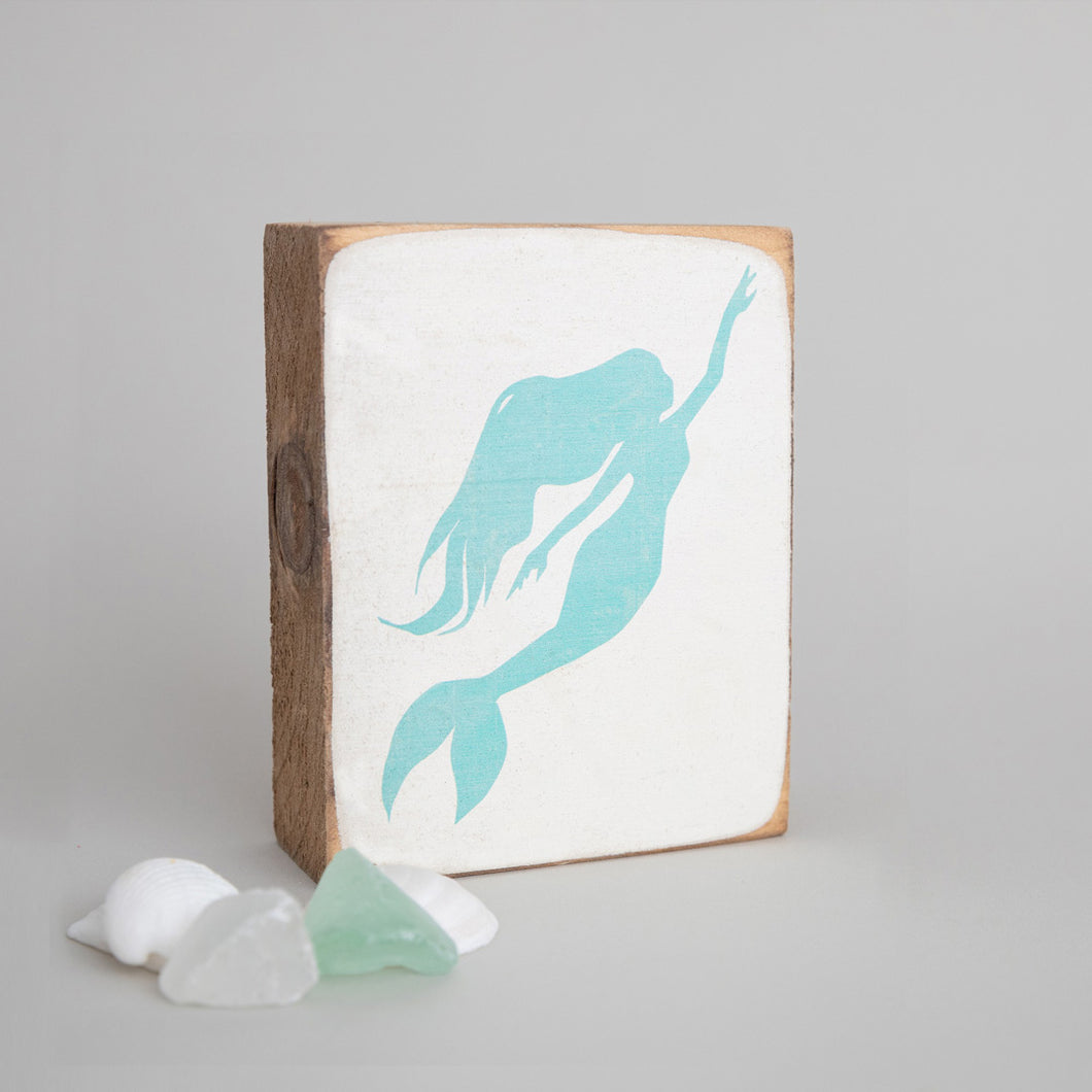 Mermaid Decorative Wooden Block