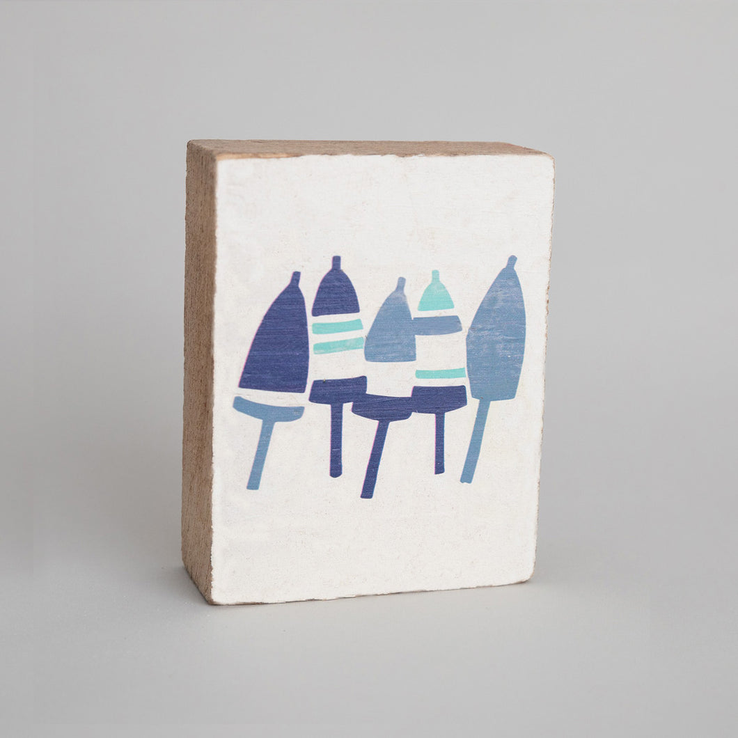 Buoys Decorative Wooden Block