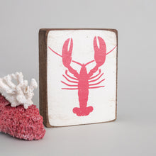Load image into Gallery viewer, Lobster Decorative Wooden Block