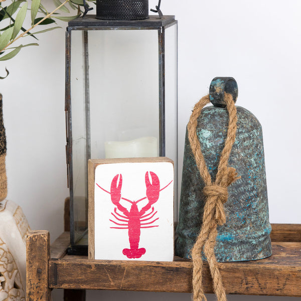 Red Lobster Rustic Block
