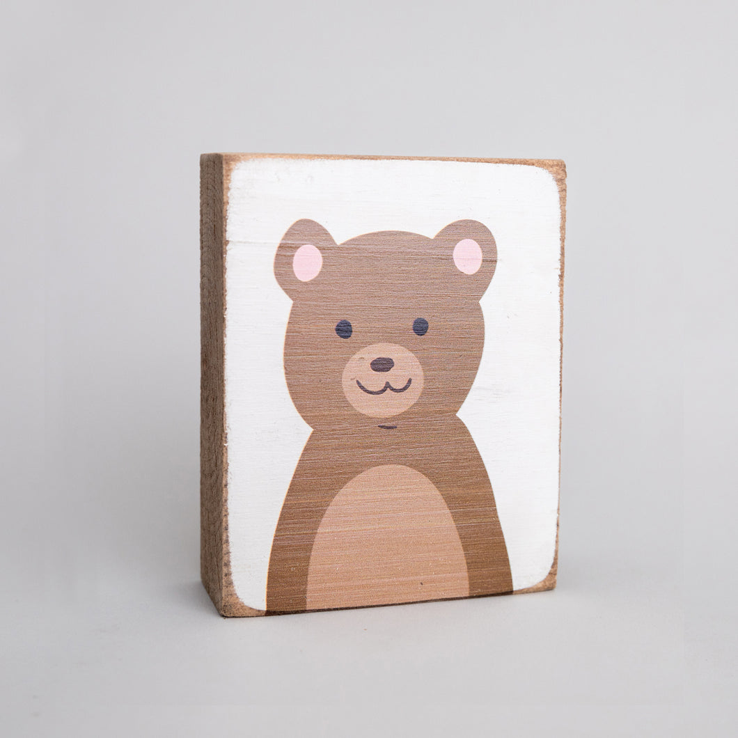 Teddy Bear Decorative Wooden Block