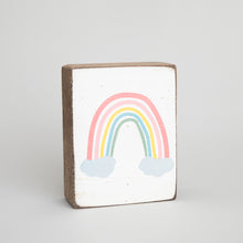 Load image into Gallery viewer, Rainbow Decorative Wooden Block