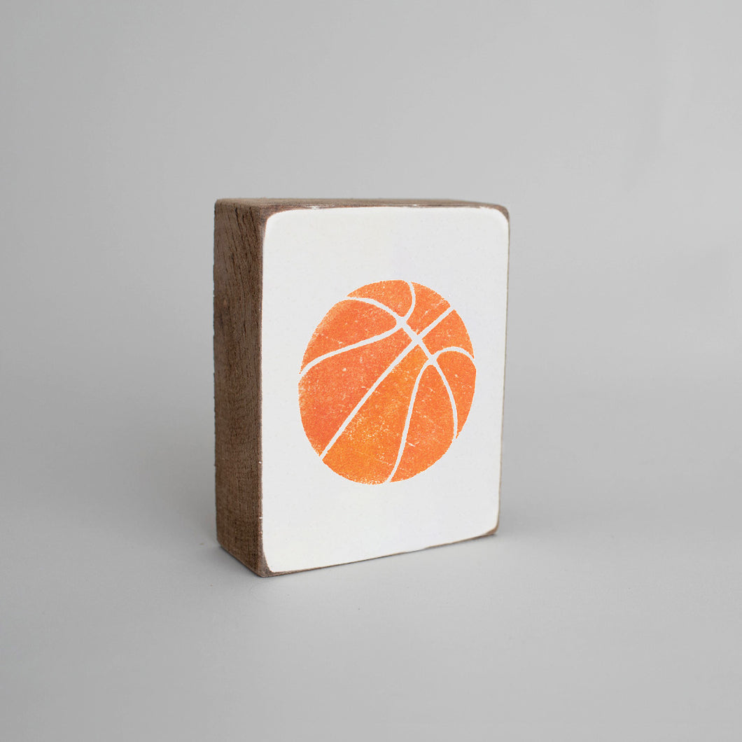Basketball Decorative Wooden Block