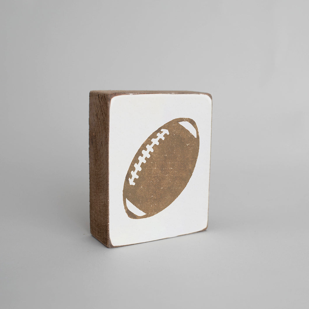 Football Decorative Wooden Block