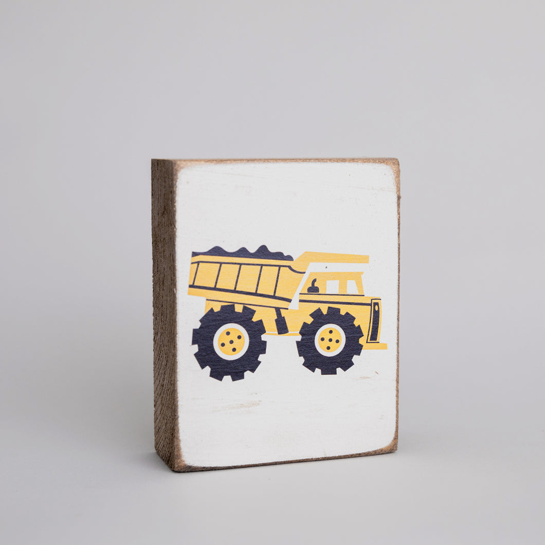 Dump Truck Decorative Wooden Block