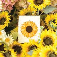 Load image into Gallery viewer, Sunflower Decorative Wooden Block