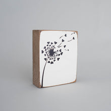 Load image into Gallery viewer, Dandelion Decorative Wooden Block