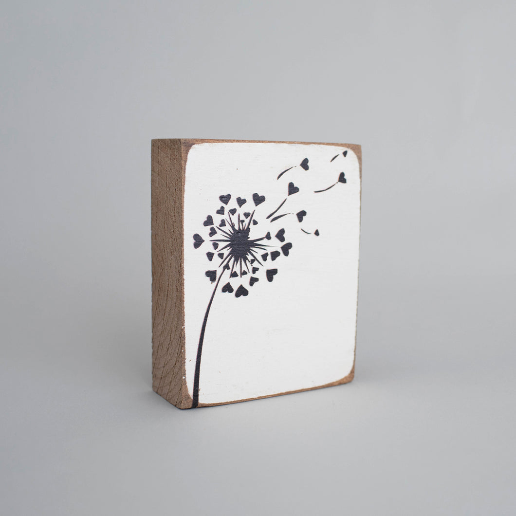 Dandelion Decorative Wooden Block