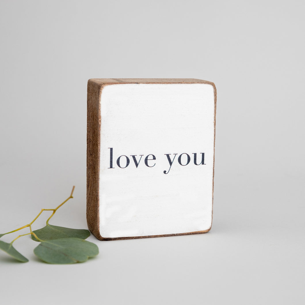 Love You Decorative Wooden Block