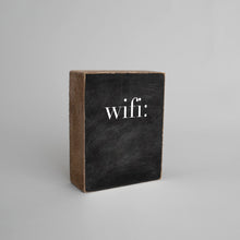 Load image into Gallery viewer, WIFI Chalkboard Decorative Wooden Block