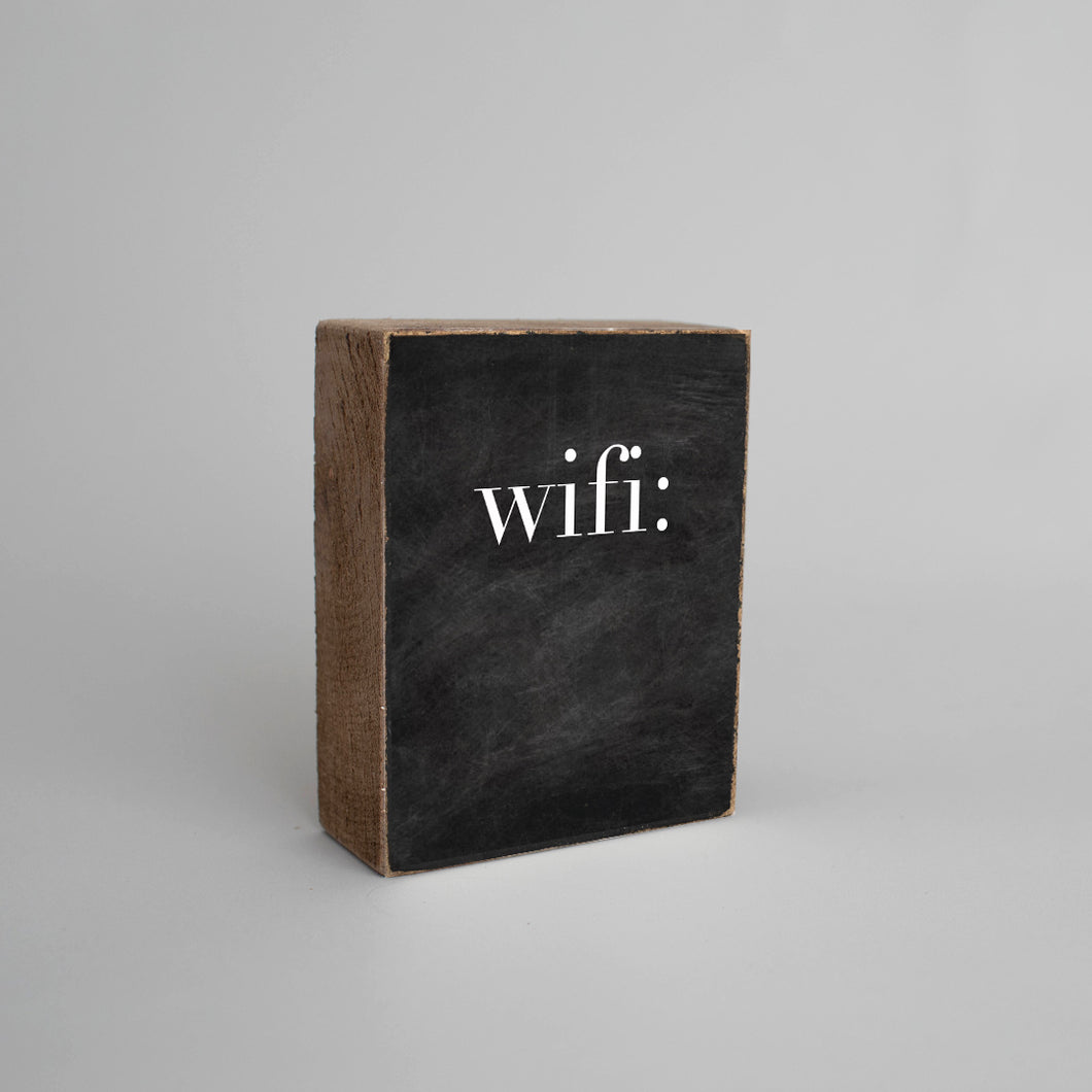 WIFI Chalkboard Decorative Wooden Block