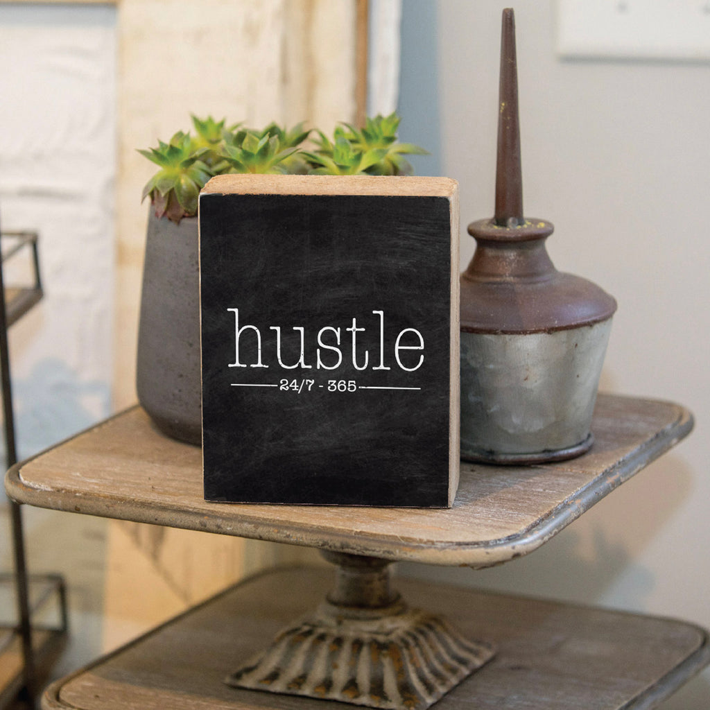 Hustle Rustic Block