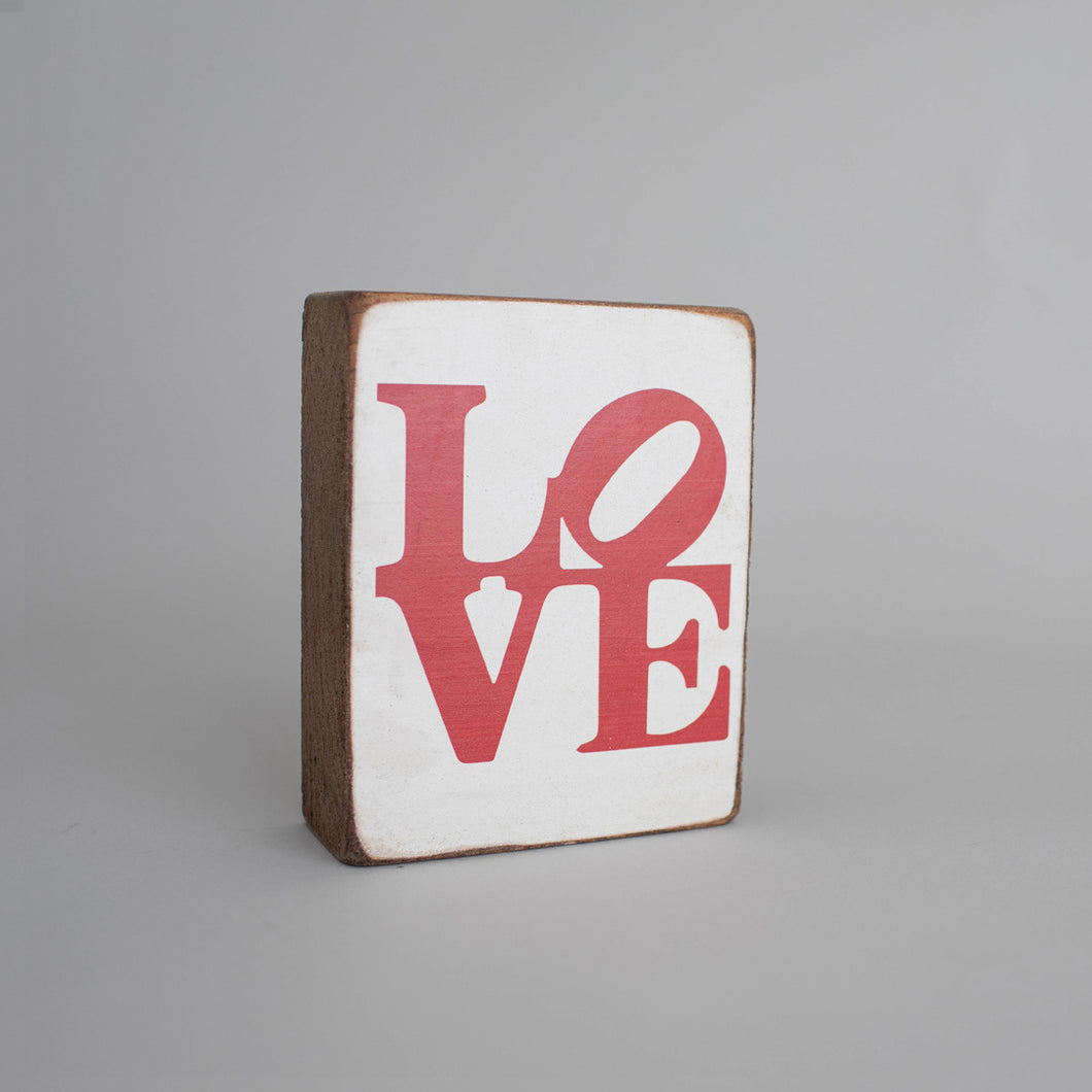 Stacked Love Decorative Wooden Block