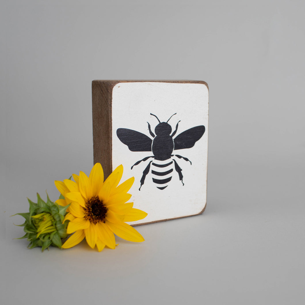 Bumble Bee Decorative Wooden Block