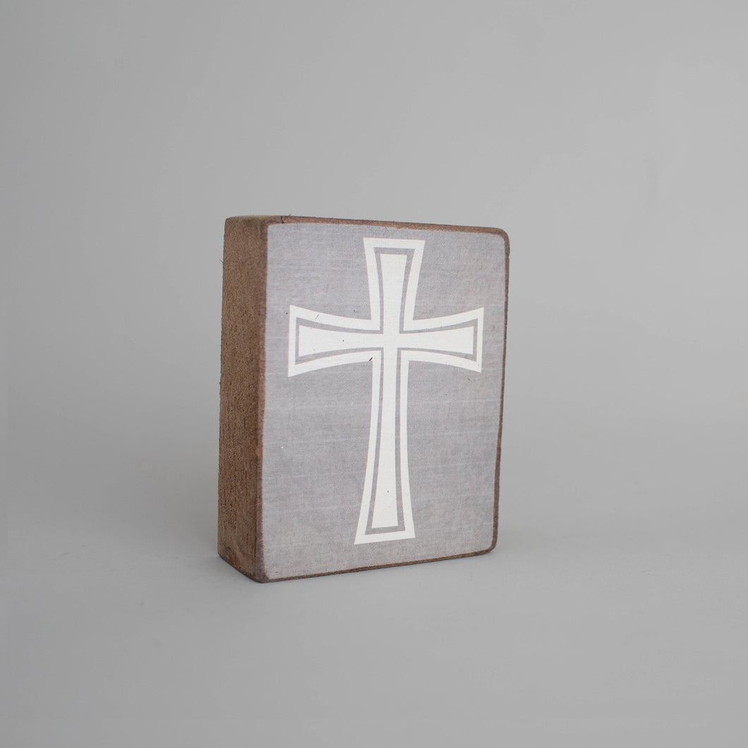 Cross Decorative Wooden Block