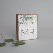Load image into Gallery viewer, Greenery Mr. Decorative Wooden Block