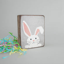 Load image into Gallery viewer, Peeking Bunny Decorative Wooden Block