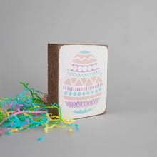 Load image into Gallery viewer, Easter Egg Decorative Wooden Block