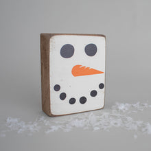 Load image into Gallery viewer, Snowman Face Decorative Wooden Block