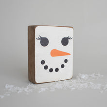 Load image into Gallery viewer, Snowlady Face Decorative Wooden Block
