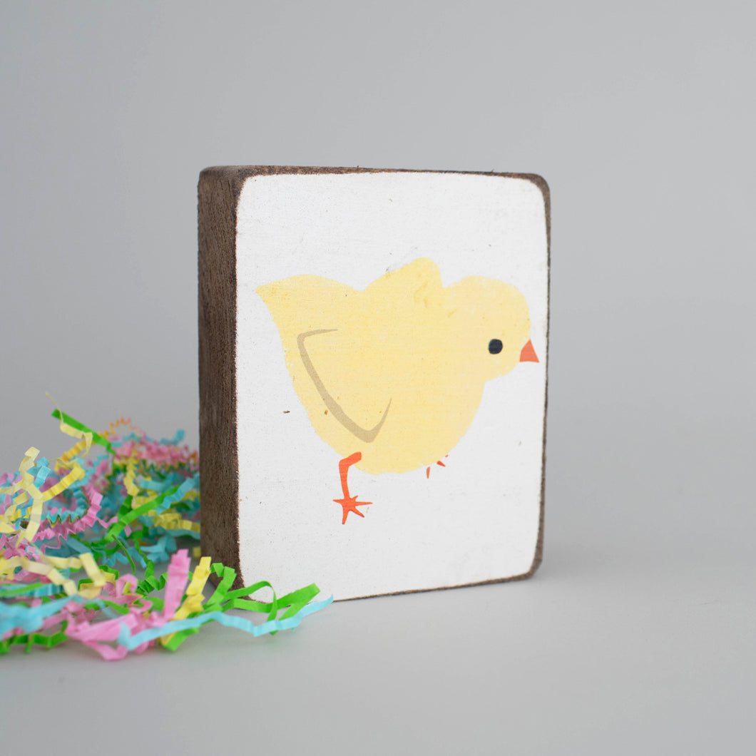 Chick Decorative Wooden Block