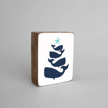 Load image into Gallery viewer, Whale Christmas Tree Decorative Wooden Block