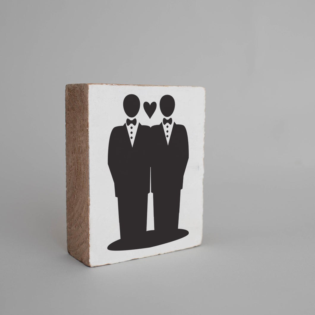 Grooms Decorative Wooden Block