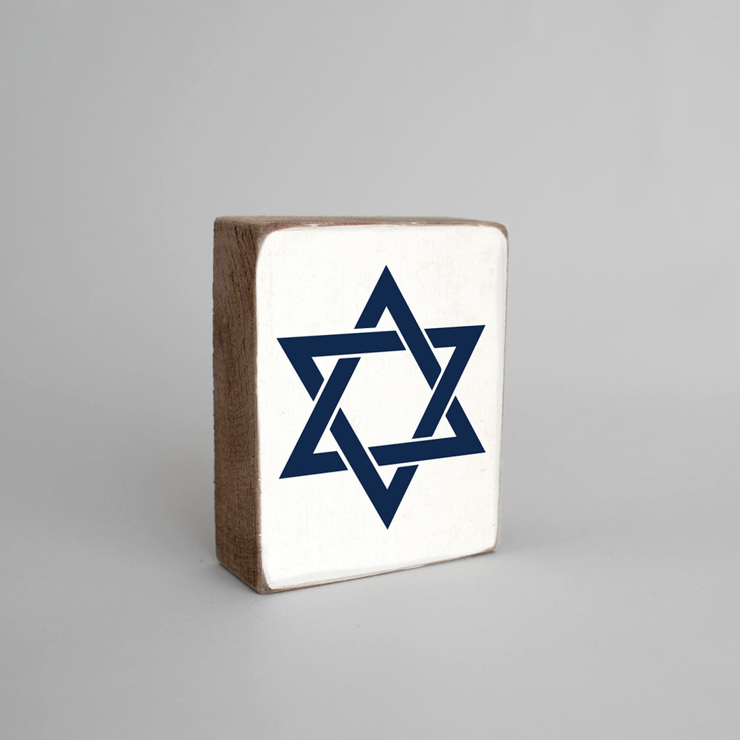 Star Of David Decorative Wooden Block