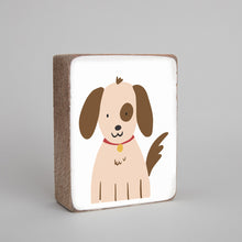 Load image into Gallery viewer, Puppy Decorative Wooden Block