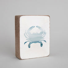 Load image into Gallery viewer, Seascape Crab Decorative Wooden Block