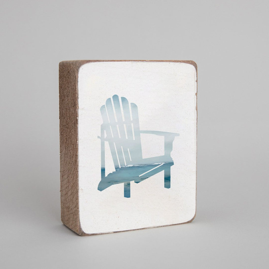 Seascape Beach Chair Decorative Wooden Block