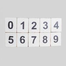 Load image into Gallery viewer, Decorative Wooden Block Numbers 0-9