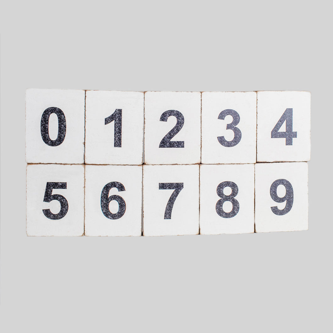 Decorative Wooden Block Numbers 0-9