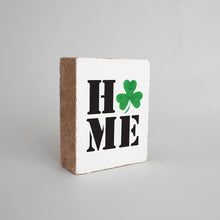 Load image into Gallery viewer, Home Shamrock Decorative Wooden Block