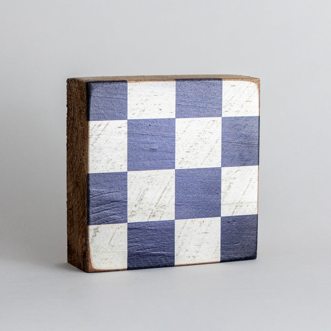 Decorative Wooden Block Nautical Flag Letter N