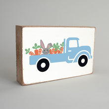 Load image into Gallery viewer, Bunny Truck Decorative Wooden Block