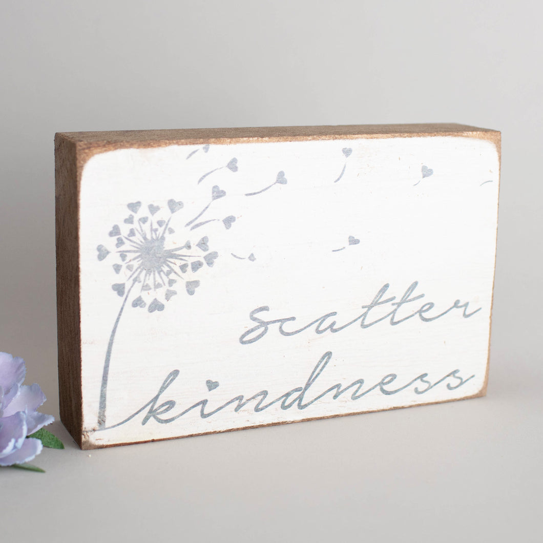 Scatter Kindness Decorative Wooden Block